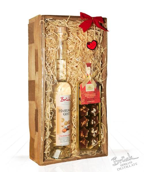 Geschenkkorb mit 1 Packung Edelste Schokolade