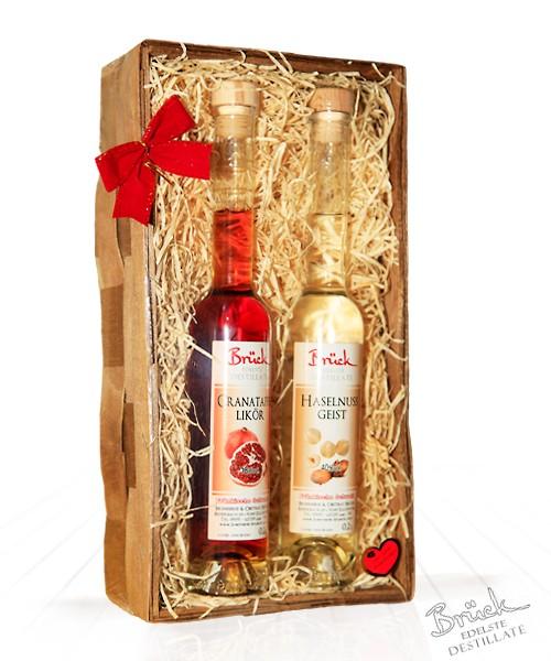 Geschenkkorb mit 2 Flaschen Ihrer Wahl