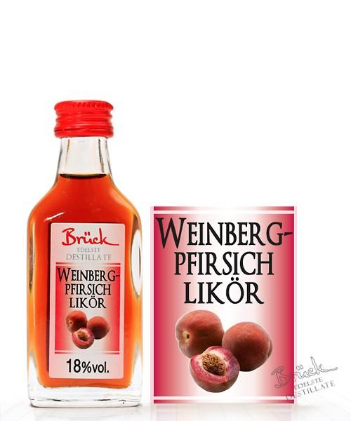 Weinberg-Pfirsichlikör